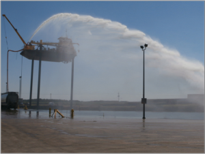 MTT Flood Control and FiFi Fire Fighting with Turbines – MTT FiFi Rig Pack with 24 Meter (80 feet) Water Lift at 5,285 GPM - www.marineturbine.com