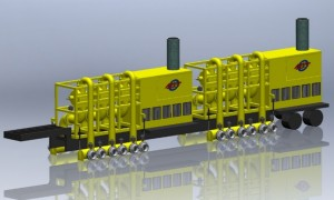 MTT Flood Control and FiFi Fire Fighting with Turbines – MTT 60,000 GPM Flood Control and Water Transfer Package on Mobile Trailer - www.marineturbine.com